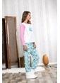 Lingabooms Wellsoft Önü Nakışlı Unicorn Kadın 2'li Pijama Takım  Pembe